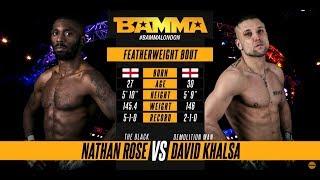 Video BAMMA 34: Nathan Rose vs David Khalsa MP3, 3GP, MP4, WEBM, AVI, FLV Desember 2018