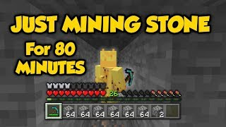 Literally Just Mining Stone For 80 Minutes