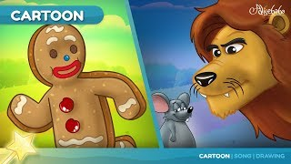 Video The Gingerbread Man + The Lion and the Mouse Story | Bedtime Stories for Kids | Fairy Tale 🧚‍♀️ MP3, 3GP, MP4, WEBM, AVI, FLV Juli 2019