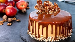 Apple Walnut Caramel Cake