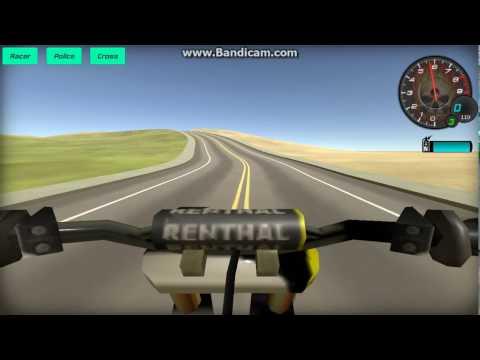 jugando a  3d moto simulator