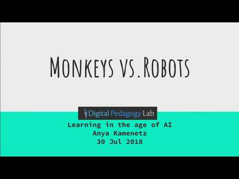 Anya Kamenetz - Human Wisdom vs. Artificial Intelligence, or Monkeys vs. Robots