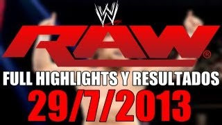 Nonton Wwe Raw 29 7 2013   Full Highlights Y Resultados  Review Completa  Film Subtitle Indonesia Streaming Movie Download