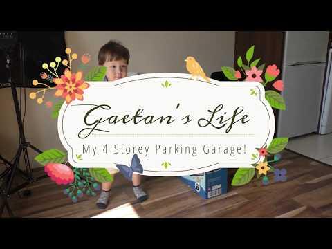 Garage Playset | Gaetan Builds & Plays with 4 levels Garage |Gaetan's Life