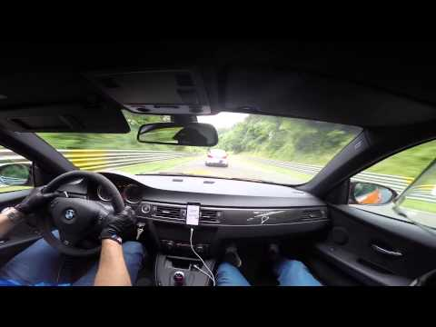 BMW M3 GTS VS BMW M5 F10 Ring Taxi Nürburgring Nordschleife with external mic + Harrys Laptimer
