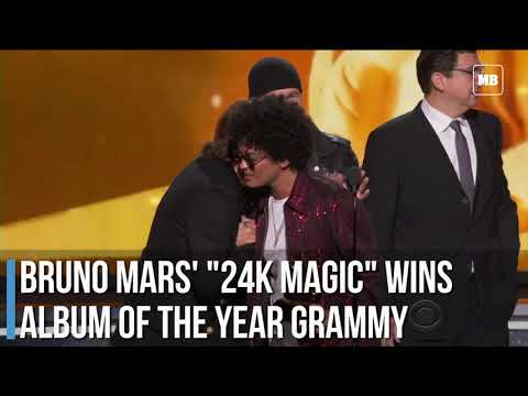 "Bruno Mars' ""24K Magic"" wins Album of the Year Grammy"