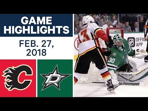 Video: NHL Game Highlights | Flames vs. Stars - Feb. 27, 2018