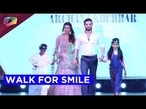 Television stars walk at Smile Foundation Fashion