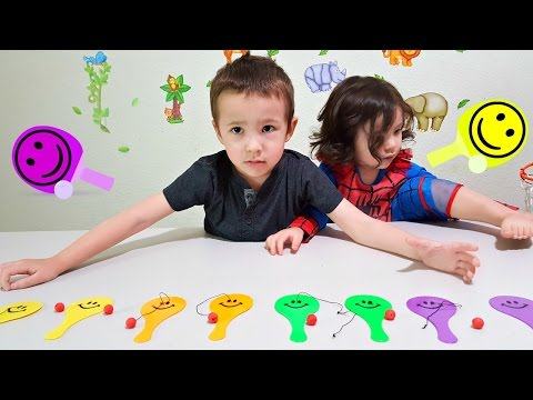 Video Toddlers Learn Colors and Numbers with Smiley Paddle Balls Toy | Kids Learning Colours with Fun Toys download in MP3, 3GP, MP4, WEBM, AVI, FLV January 2017
