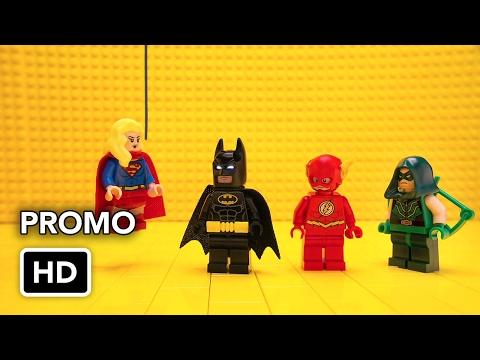 LEGO Batman meets CW Superheroes Promo (HD) Flash, Arrow, Supergirl