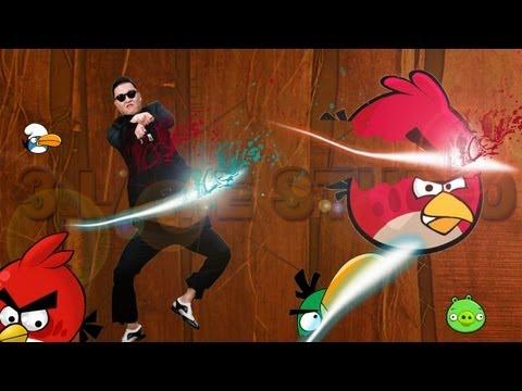 ANGRY BIRDS VS PSY GANGNAM STYLE(강남스타일) VS FRUIT NINJA