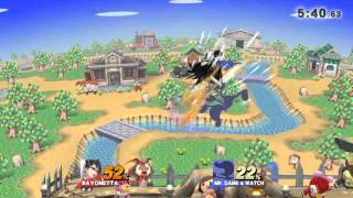 So… Game & Watch UpB windbox can kill Bayonetta during her SideB-UpB combo?