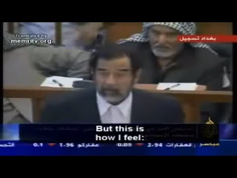 Saddam Husseins final speech