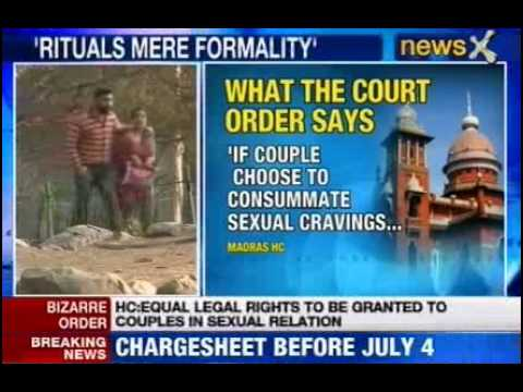 wife - NewsX: In a ruling which might have a far reaching impact, Madras High Court has said if a couple in the right legal age indulge in sexual gratification, it ...