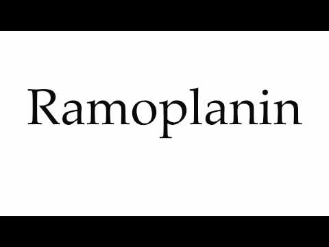How to Pronounce Ramoplanin