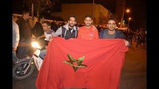 فرحة تأهل المنتخب المغربي بعيون شرقية