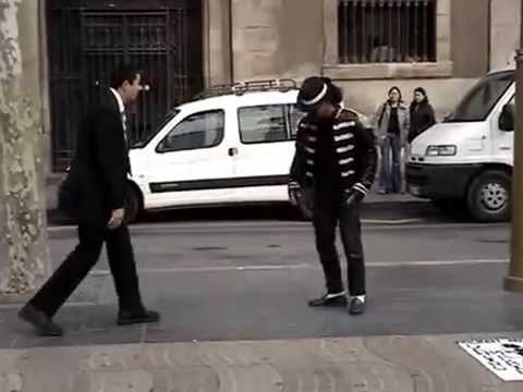 Elder Gus Garcia, Mormon Missionary, Holding His Own Break Dancing
