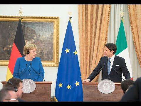 Conferenza stampa Conte - Merkel