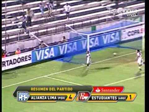 Alianza Lima (4) - Estudiantes de la Plata (1) Copa Santander Libertadores 2010 HD