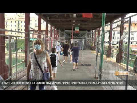 PONTE VECCHIO CHIUSO DA LUNEDI' 28 A VENERDI' 2 PER SPOSTARE LE IMPALCATURE   23/09/2020