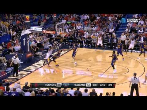 Clint Capela throws down alleyoop over Anthony Davis