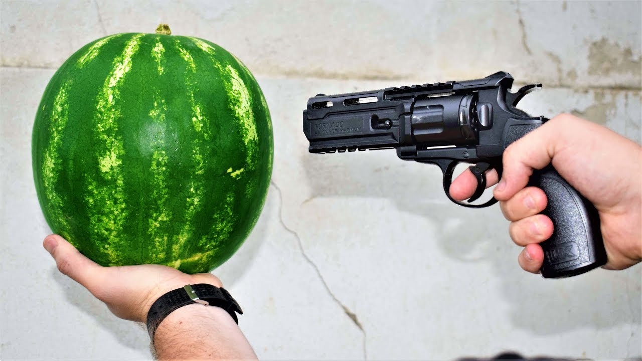EXPERIMENT GUN ws WATERMELON - YouTube