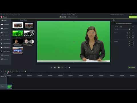 Camtasia 9, green screen effects