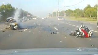 Мото аварии Июль 2016