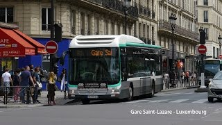Video Paris Bus RATP MAN Lion's City Hybrid on Rt.21 from Gare Saint-Lazare to Luxembourg MP3, 3GP, MP4, WEBM, AVI, FLV Juni 2017