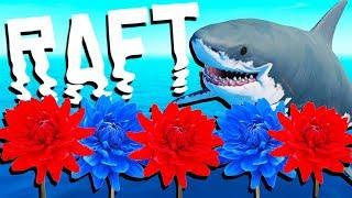 Amazing Rooftop Flower Farm! - Raft Gameplay