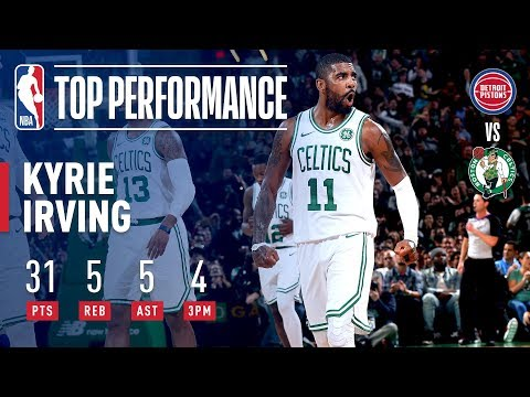 Video: Kyrie Irving Gets BUCKETS At Home Vs Detroit | October 30, 2018