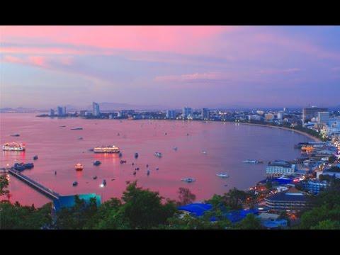 THAILAND – Pattaya beach from Hilton Hotel – FHD