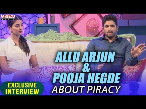 Video Allu Arjun & Pooja Hegde About Piracy || Allu Arjun & Pooja Hegde Exclusive Interview About DJ download in MP3, 3GP, MP4, WEBM, AVI, FLV January 2017