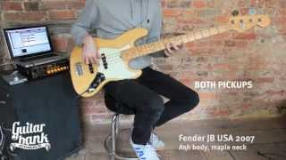 Fender jazz bass comparison USA vs MIM vs MIJ - YouTube