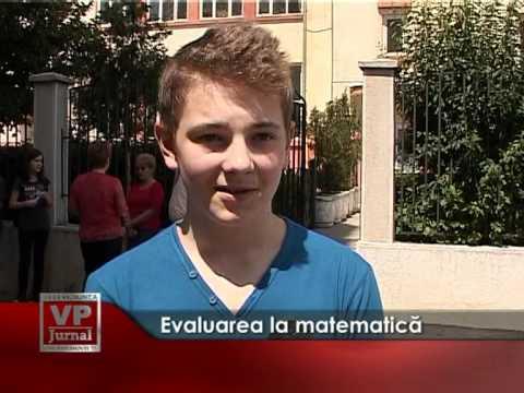 Evaluarea la matematică