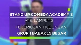 Video Stand Up Comedy Academy 3 : Ate, Lampung - Keseriusan Hubungan MP3, 3GP, MP4, WEBM, AVI, FLV November 2017