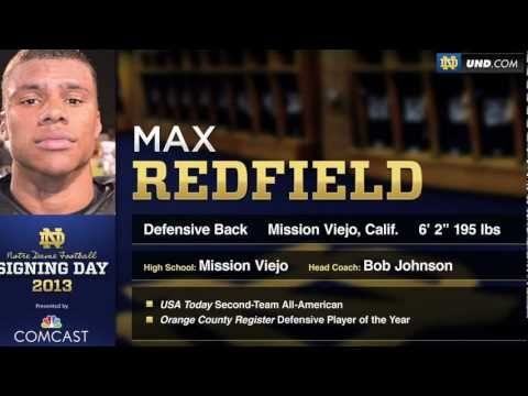 Max Redfield - 2013 Notre Dame Football Signee