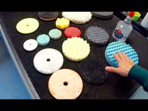How to Clean Auto Detailing Polishing Pads