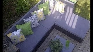How to build a pallet sofa for the garden - YouTube