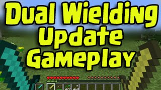 Minecraft 1.9 Update - Dual Wielding Combat System! Two Sword Gameplay