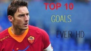 Die 10 schönsten Tore des Francesco Totti