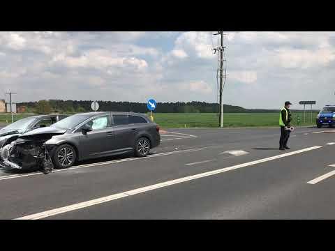 Wideo1: Wypadek na  K12 w Goli