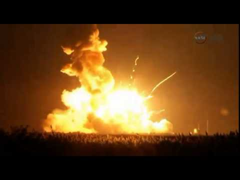 Video: Antares rocket explodes after liftoff from Wallops Island