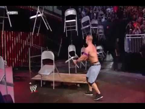WWE TLC 2010 John Cena vs Wade Barrett (Chairs Match) Highlights