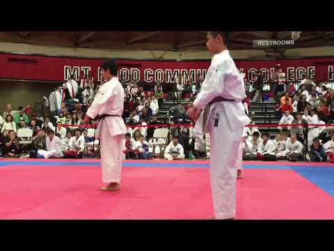 2015 Yoshida Cup in OR USA. Team Kata SANSAI (Genseiryu)