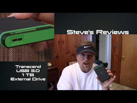 Transcend 1TB USB 3.0 External Hard Drive ~ Steve's Reviews