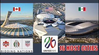 Video UNITED 2026 North America World Cup | Stadiums and 16 Host Cities MP3, 3GP, MP4, WEBM, AVI, FLV November 2018