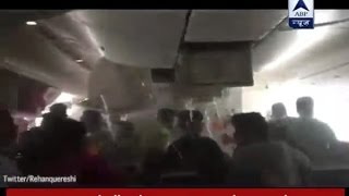 Inside video of Emirates' Boeing 777 that crash-landed at Dubai International Airport