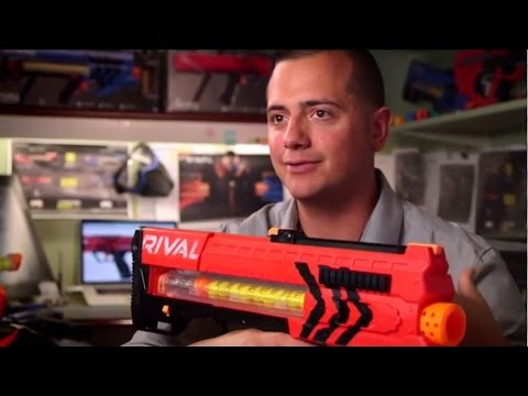 Toy gun makers NERF make slow-motion action video showing off their latest models and the video goes viral.