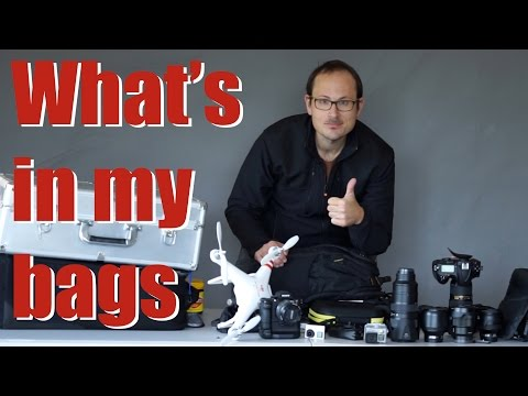 Professional Nikon & Sony Kit - Whats in my bag